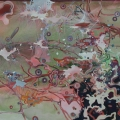 is_2007_17indra.O.T. (Boot), 2007Acryllacke, Oel und Permanentmarker auf Leinwand100 cm x 160 cm
