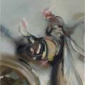 Sleeper, 2017, Öl und Sprühfarbe auf Leinwand, 70 x 60 cm