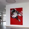 Ruddle, 2016, Öl und Sprühfarbe auf Leinwand ,250 x 200 cm
