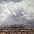Heike Negenborn, Cumulunimbus, 2012, Acryl auf Holz, 44 x 52 cm