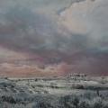Heike Negenborn, Foggy dew 1, 2012, Acryl auf Holz, 44 x 52 cm