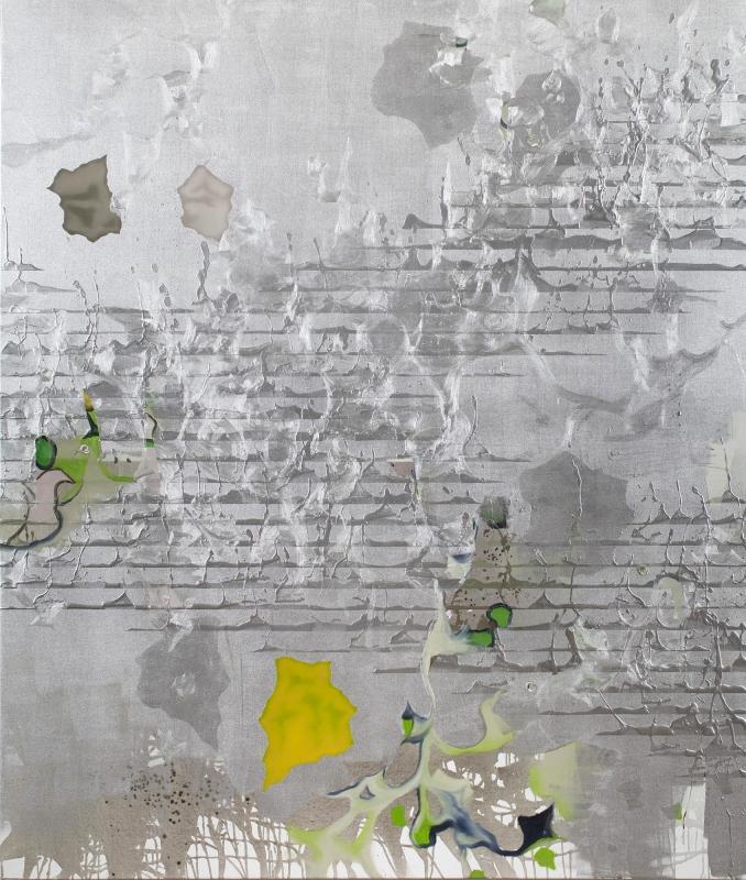 Olaf Quantius, o.T. (orten 33), 2010, Öl und Aluminiumlack auf Leinwand, 210 x 180 cm
