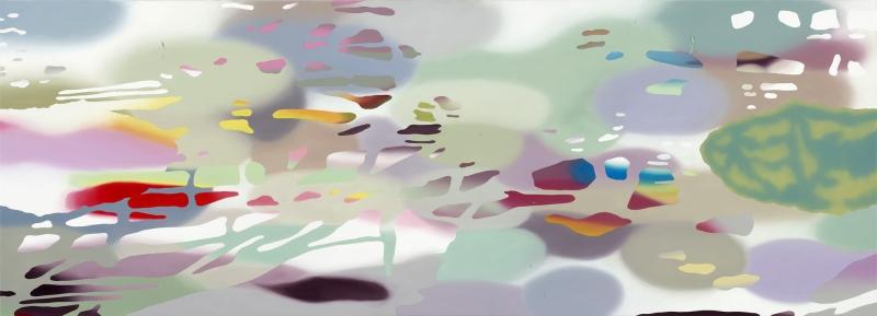 Olaf Quantius, Danaide 30. 2013, Öl auf Leinwand, 90 x 250 cm