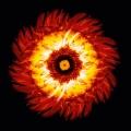 Leuchtcube-UpSideDown-Margarite_red